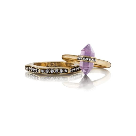 510fef6fcda Chloe + Isabel Jewelry | Chloe Isabel Medina Hexagon Pave Stackable ...